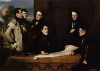 A Consultation prior to the Aerial Voyage to Weilburgh 1836 | John Hollins | oil painting