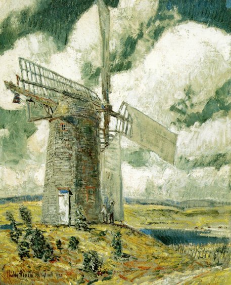 Bending Sail on the Old Mill | Frederick Childe Hassam | oil painting
