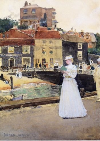 Bleakk House Broadstairs | Frederick Childe Hassam | oil painting