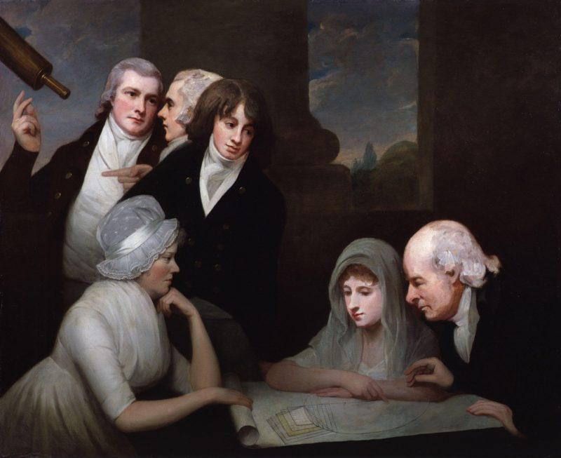 Adam Walker and his family | George Romney | oil painting
