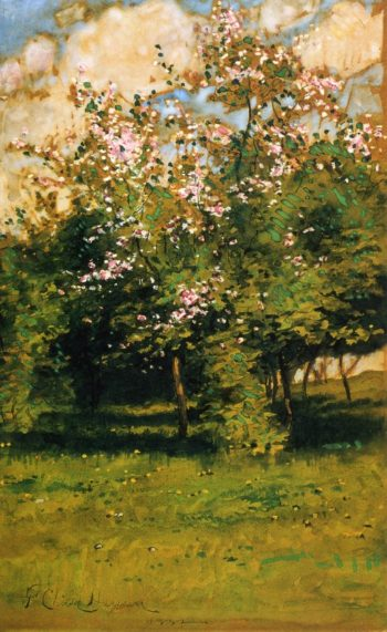 Blossoming Trees | Frederick Childe Hassam | oil painting