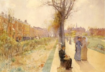 Boston Common | Frederick Childe Hassam | oil painting