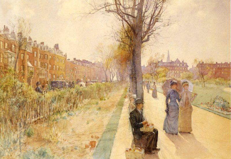 Boston Common | Frederick Childe Hassam | oil painting