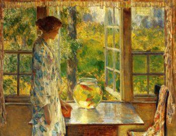 Bowl of Goldfish | Frederick Childe Hassam | oil painting