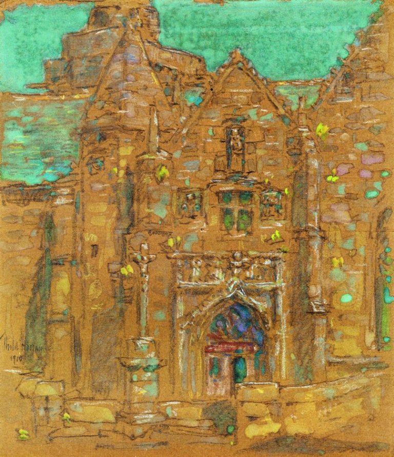 Brelevenez Lannion Cote du Nord France | Frederick Childe Hassam | oil painting