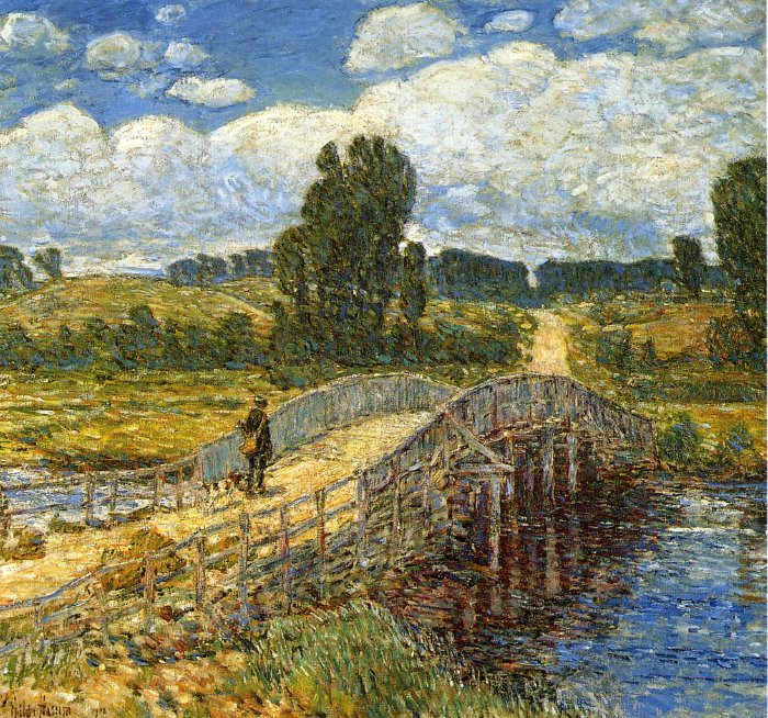 Bridge at Old Lyme | Frederick Childe Hassam | oil painting