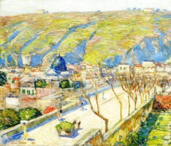 Bridge at Posilippo Naples | Frederick Childe Hassam | oil painting