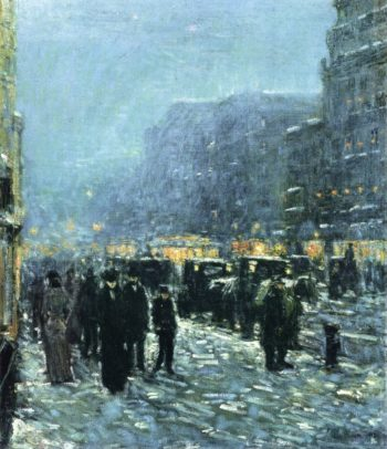 Broadway and 42nd Street | Frederick Childe Hassam | oil painting