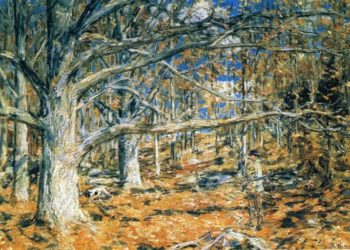 Connecticut Hunting Scene | Frederick Childe Hassam | oil painting