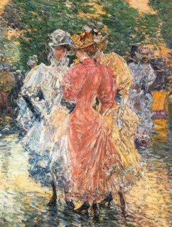 Conversation on the Avenue | Frederick Childe Hassam | oil painting