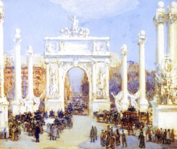Dewey's Arch | Frederick Childe Hassam | oil painting
