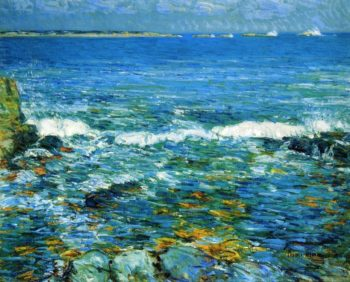 Duck Island from Appledore | Frederick Childe Hassam | oil painting