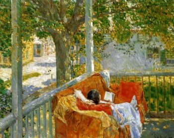 Couch on the Porch, Cos Cob Frederick Childe Hassam