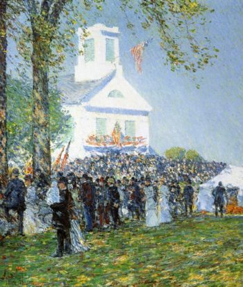 Country Fair, New England Frederick Childe Hassam