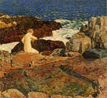 East Headland Pool | Frederick Childe Hassam | oil painting