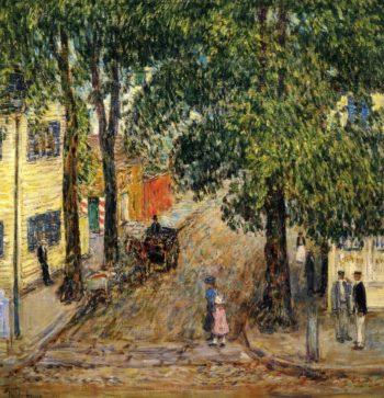 Duke Street, Newport Frederick Childe Hassam