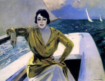 Mujer en la Barca Julio Vila Prades