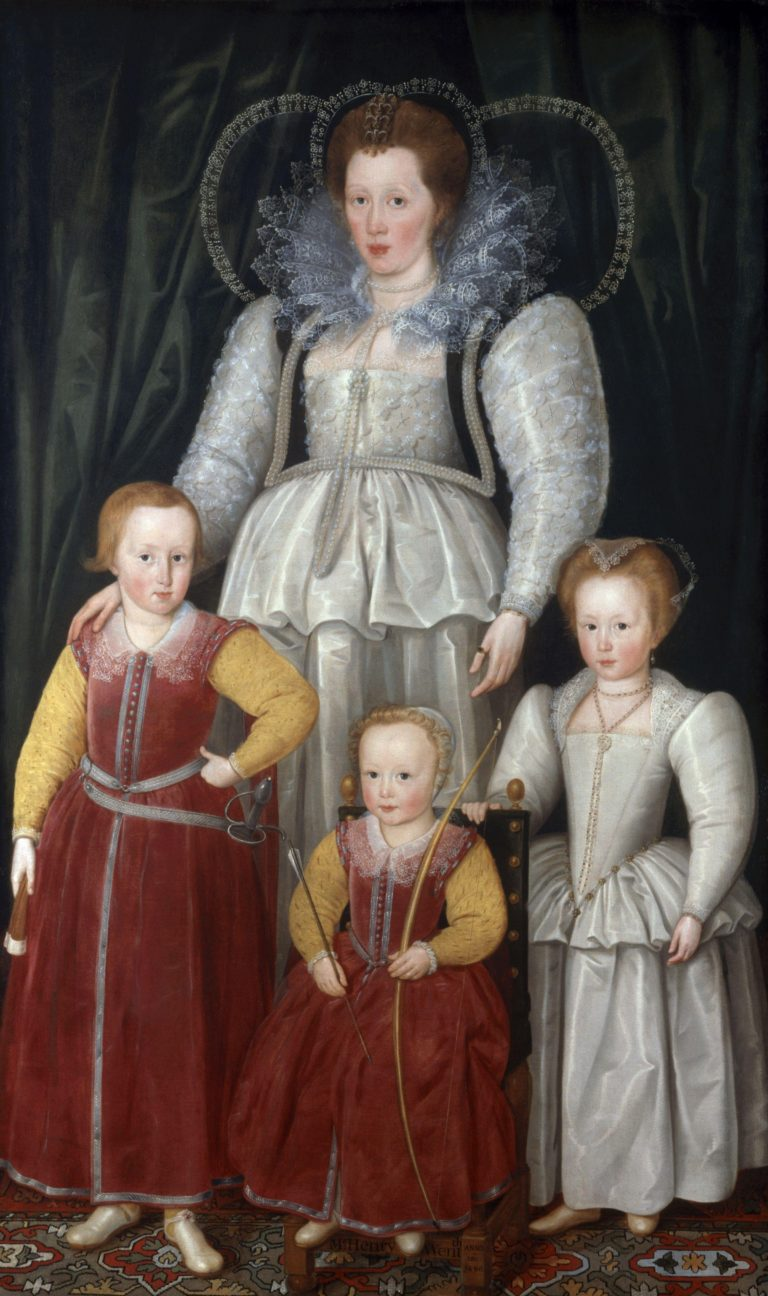 Anne Lady Pope with her children | Marcus Gheeraerts the Younger | oil painting