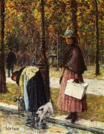Evening, Champs Elysees (also known as Pres du Louvre) Frederick Childe Hassam