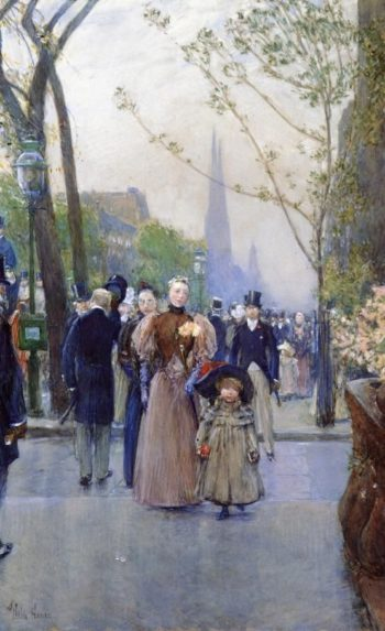 Fifth Avenue (also known as Sunday on Fifth Avenue) | Frederick Childe Hassam | oil painting