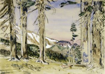 End of Timberline, Mt. Hood Frederick Childe Hassam