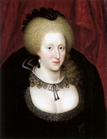 Anne of Denmark in mourning | Unknown Artist | oil painting