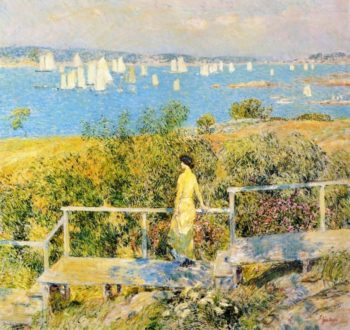 Yachts, Gloucester Harbor Frederick Childe Hassam