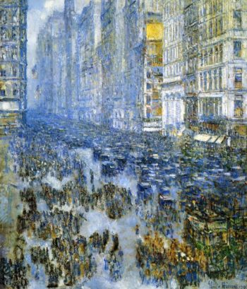 Fifth Avenue in Winter2 | Frederick Childe Hassam | oil painting