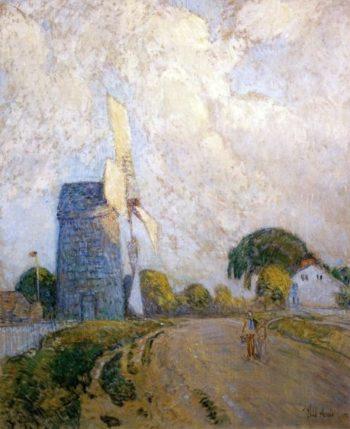 Windmill at Sundown, East Hampton Frederick Childe Hassam
