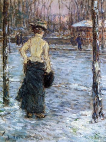 Winter, Central Park Frederick Childe Hassam
