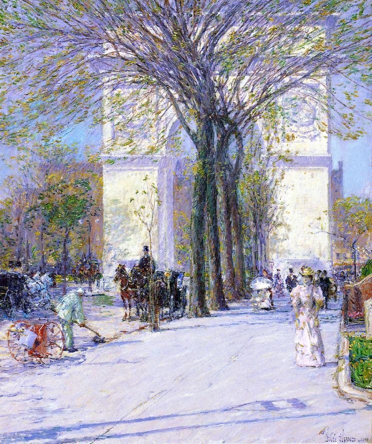 Washington Arch, Spring Frederick Childe Hassam