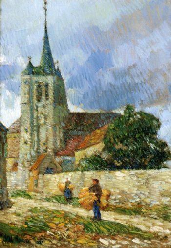 Village Scene, Breton Frederick Childe Hassam
