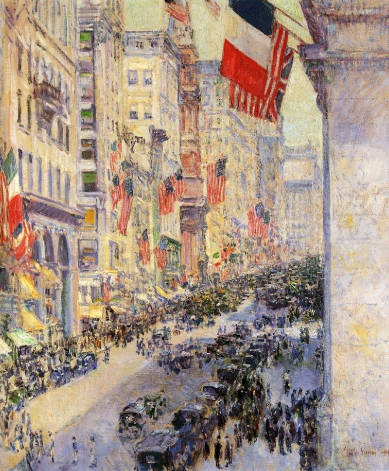 Up the Avenue from Thirty Fourth Street, 1917 Frederick Childe Hassam