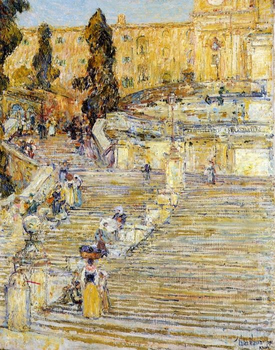 The Spanish Steps, Rome Frederick Childe Hassam