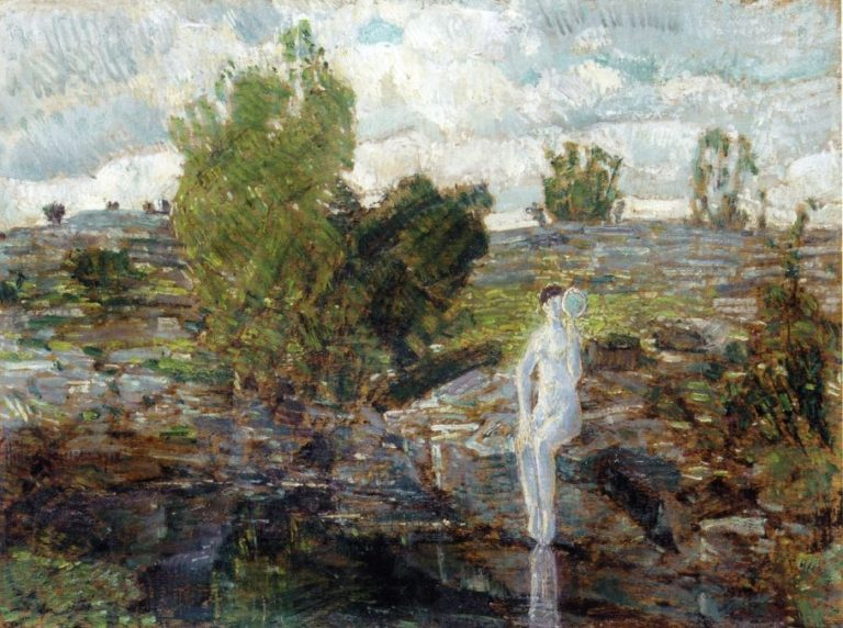 The Quarry Pool, Folly Cove, Cape Ann Frederick Childe Hassam