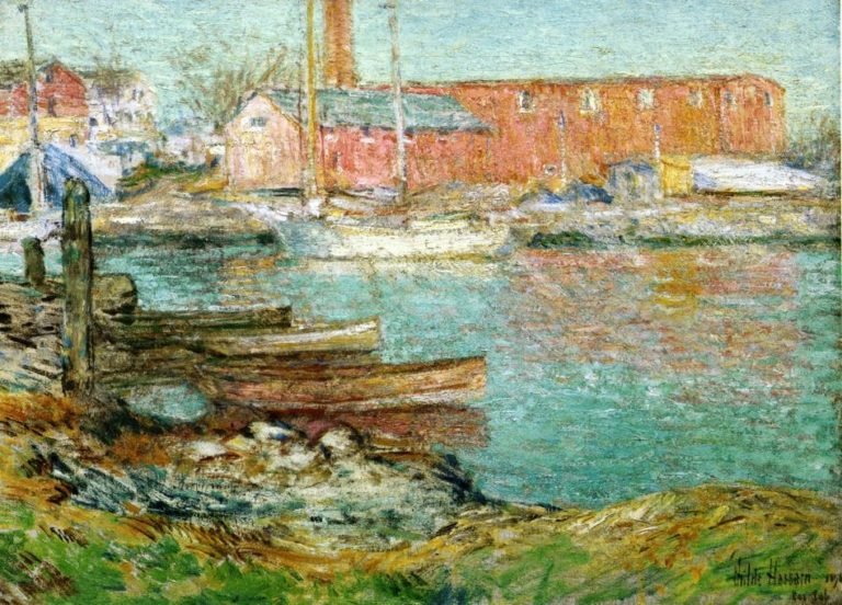 The Red Mill, Cos Cob Frederick Childe Hassam
