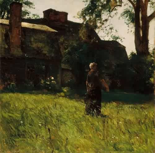 Old Fairbanks House Dedham Massachusetts 1884 Childe Hassam