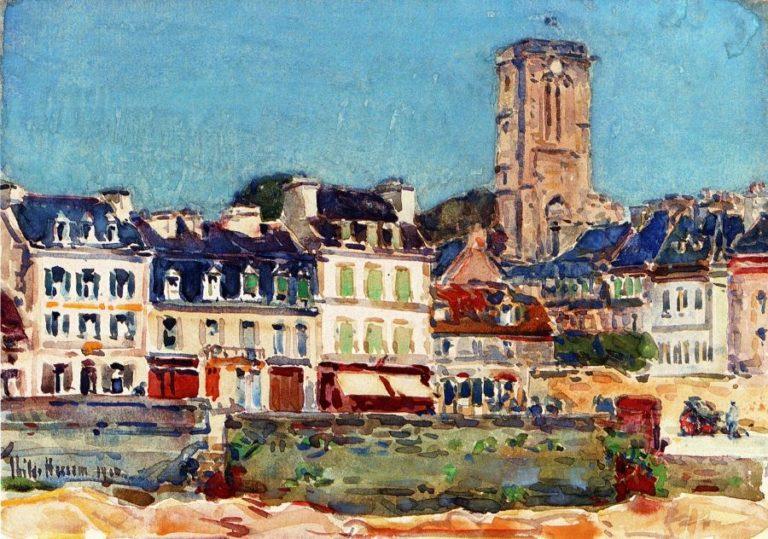 The Quai, Lannion Frederick Childe Hassam