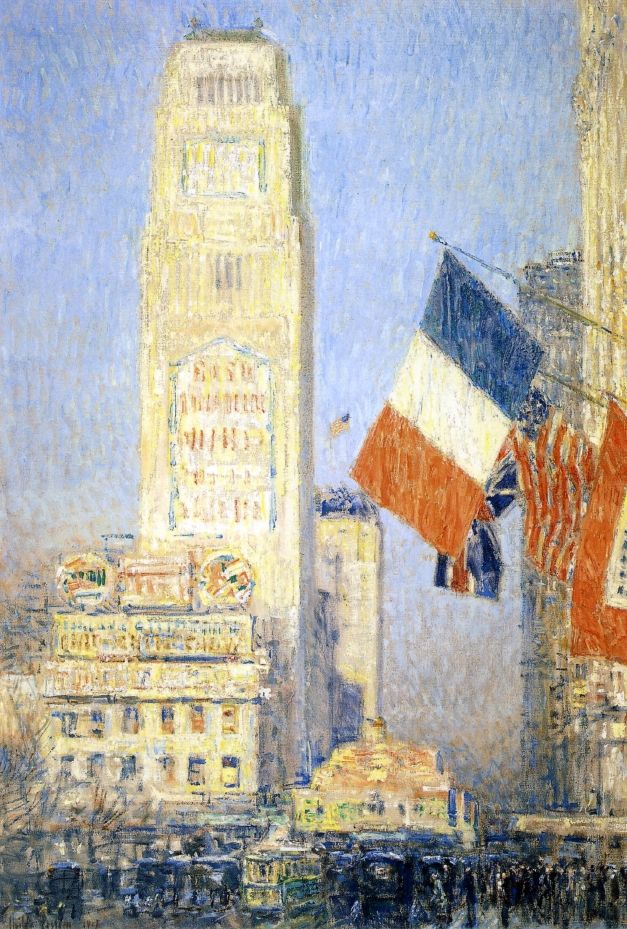 The New York Bouquet, West Forty Second Street Frederick Childe Hassam