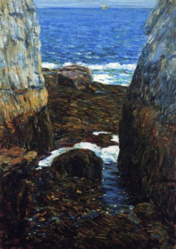 The North Gorge, Appledore, Isles of Shoals Frederick Childe Hassam