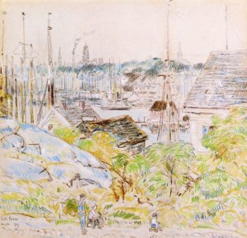 The Harbor of a Thousand Masts, Gloucester Frederick Childe Hassam
