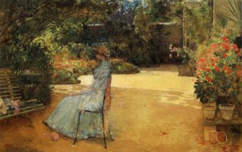 The Artist's Wife in a Garden, Villiers le Bel Frederick Childe Hassam