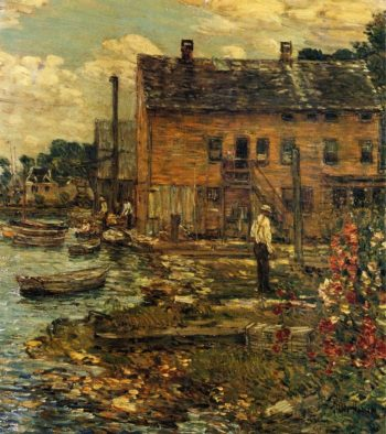 The Fishermen, Cos Cob Frederick Childe Hassam