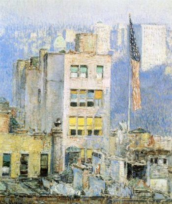 The Flag, Fifth Avenue Frederick Childe Hassam