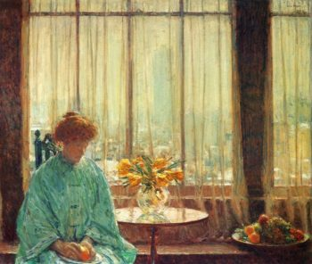 The Breakfast Room, Winter Morning Frederick Childe Hassam