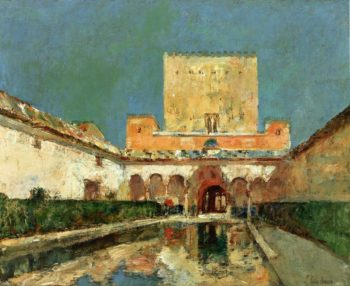 The Alhambra (also known as Summer Palace of the Caliphs, Granada, Spain) Frederick Childe Hassam