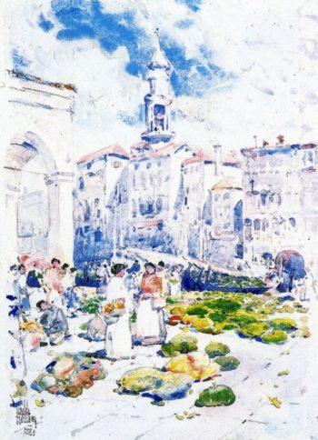 Rialto Market, Venice Frederick Childe Hassam