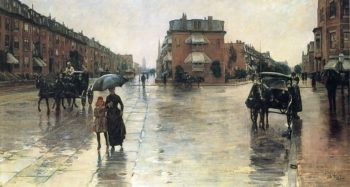 Rainy Day, Boston Frederick Childe Hassam
