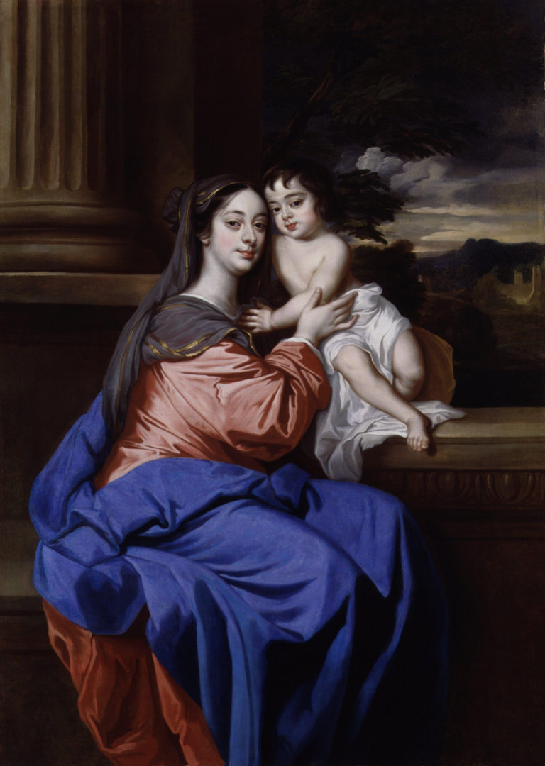 Barbara Palmer nae Villiers Duchess of Cleveland with her son Charles Fitzroy as Madonna and Child | Sir Peter Lely | oil painting