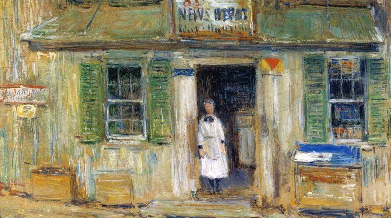 News Depot, Cos Cob Frederick Childe Hassam